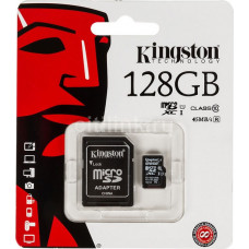Карта памяти micro SDHC 128Gb Kingston Class10 с адаптером SD
