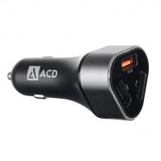 Автомобильное зарядное устройство ACD-Power C233 (1QC+2Smart)