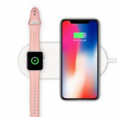 Беспроводное зарядное устройство 2 в 1 Mini AirPower Wireless Charger для iPhone 8/8 Plus, iPhone X, iWatch