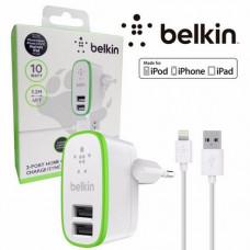 Сетевая зарядка Belkin 2 USB 2 A с кабелем Lightning