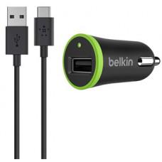 Зарядка автомобильная Belkin 1 USB + кабель microUSB F8M668