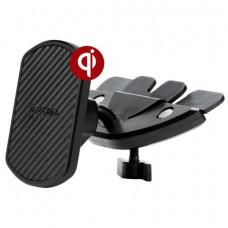 Автомобильный держатель Pitaka Magnetic Mount Qi CD Slot с беспроводной зарядкой черный CMD001Q