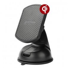 Автомобильный держатель Pitaka Magnetic Mount Qi Suction Cup черный CMS001Q