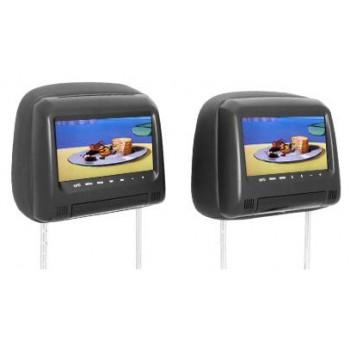 """Комплект DVD подголовников с мониторами 7"""" для авто AVIS AVS0733T + AVS0734BM"""