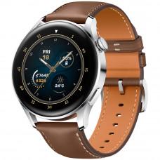 Умные часы HUAWEI Watch 3 Classic, серебристый/коричневая кожа
