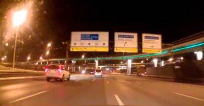 Видеорегистратор Subini STR-845RU обзор ночью